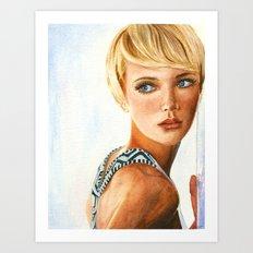 The Model Art Print