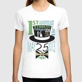5K WEDDDING RUN T-shirt