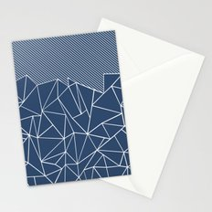 Ab Lines 45 Navy Stationery Cards