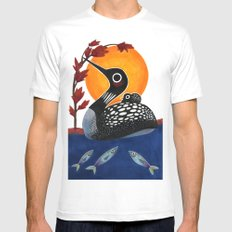 Baby Loon White Mens Fitted Tee MEDIUM