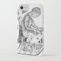 piano iPhone & iPod Cases featuring piano by Agnes Laczo