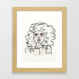 Natural Curls Framed Art Print