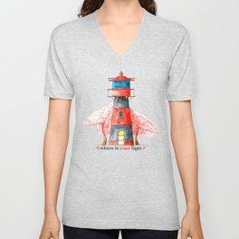 Lighthouse&Sacura Unisex V-Neck