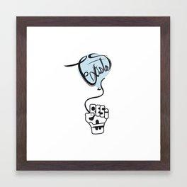 existe y resiste (exist and resist) Framed Art Print