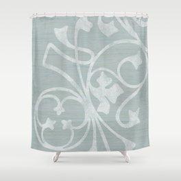 Rejas Grey Shower Curtain
