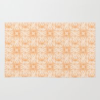 orange pattern Area & Throw Rugs featuring Orange Pattern by Myriam D. O.