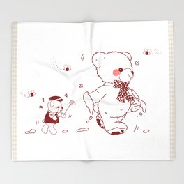 The Adventures of Bear and Baby Bear-Who took the honey Throw Blanket