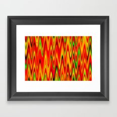 WAVY #1 (Reds, Oranges, Yellows & Greens) Framed Art Print