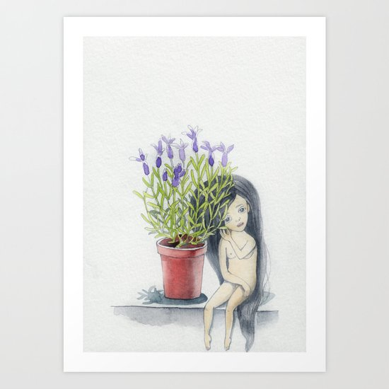 listening to the lavender's breath Art Print