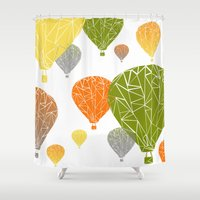 balloons Shower Curtains featuring BALLOONS by ARCHIGRAF