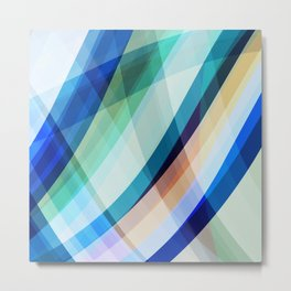 Blue Madness Metal Print