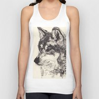 wolves Tank Tops featuring Wolves by Maria Gabriela Arevalo Reggeti
