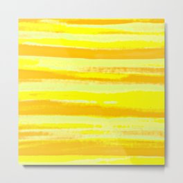 Go Wild: Yellow Zebra Metal Print