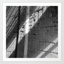 #213 #Light #Concrete #Shadows Art Print
