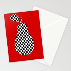 Red And Checked Pear Stationery Cards