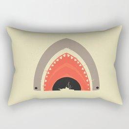 Great White Bite Rectangular Pillow