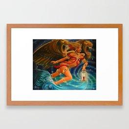 "Live Painting: ""Illumination of the Roaring Sea"" Framed Art Print"