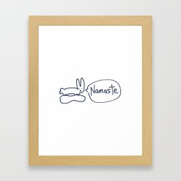 Namaste RABBITS TALKING Framed Art Print