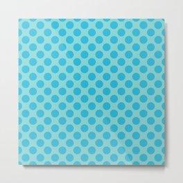Aqua Sea Thalertupfen Polka Dots Metal Print