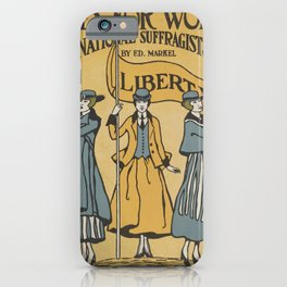 Votes For Women Poster iPhone Case