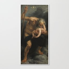 Saturn Devouring His Son - Peter Paul Rubens Canvas Print