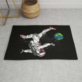 Space Astronaut Football Soccer Player Rug