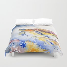 Going Up Sea Turtle Duvet Cover