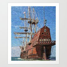 Galleons, the most beautiful ships Art Print