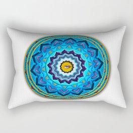 Blue Rose Mandala Rectangular Pillow
