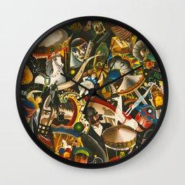 Classical Masterpiece 'The Fair in Utrecht by Pyke Koch Wall Clock