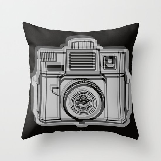 I Still Shoot Film Holga Logo - Black Throw Pillow