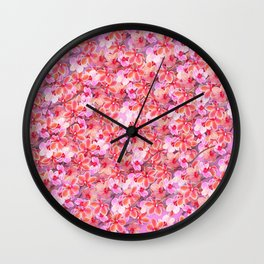 Bed of Orchids Wall Clock