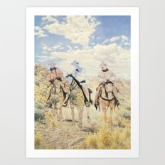 The Unknown Riders in The Guilty Ones Art Print