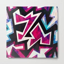 Psychedelic Abstract Colorful Urban Skate Graffiti Metal Print