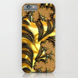 Fractal Gold iPhone Case