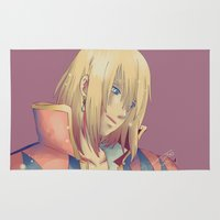 ghibli Area & Throw Rugs featuring Howl - Howl's moving castle ~ Ghibli by KanaHyde