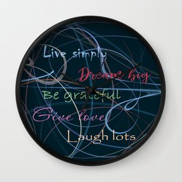 Positive charge Wall Clock