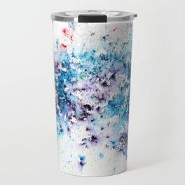 Blue Watercolour Rain Travel Mug