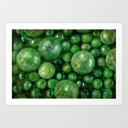 Greenballs Art Print