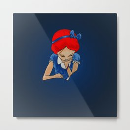 Alice in Readerland Metal Print