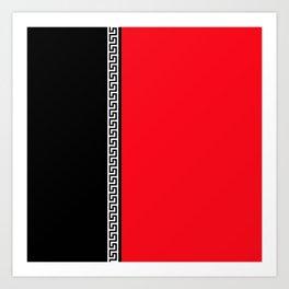 Greek Key 2 - Red and Black Kunstdrucke