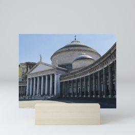 Napoli, Piazza del Plebiscito, Italy landmark, Naples photo, italian art, neoclassical architecture Mini Art Print