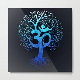 Tree Of Life with Om Symbol Metal Print
