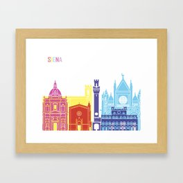 Siena skyline pop Framed Art Print