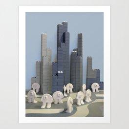 Un jour j'irai à New-York avec toi Art Print
