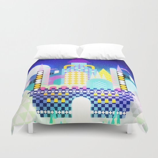 Castle in the Sky Duvet Cover