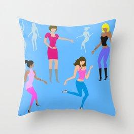 Dancing ladies Throw Pillow