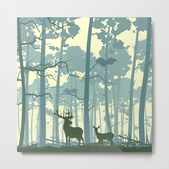 The Deers Metal Print