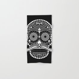 Black Skull  White Suits Hand & Bath Towel