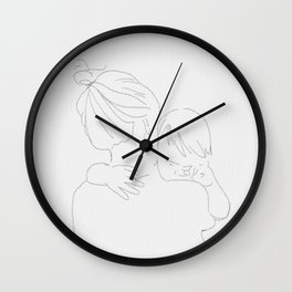 A mothers love Wall Clock